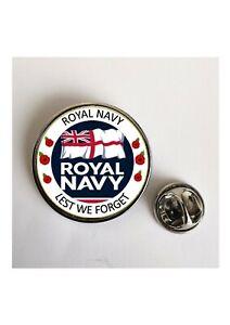 Royal Navy Lest We Forget lapel pin / Key Ring /Magnet