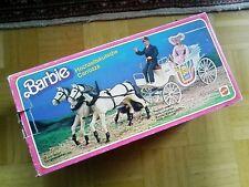VINTAGE Barbie Hochzeitskutsche für 2 Pferde + Original Verpackung  MATTEL 1982