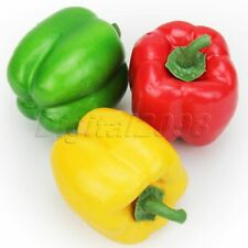 15x Artificial Imitated Pepper Lifelike Vegetable Peppers Fake Pepper Decoration