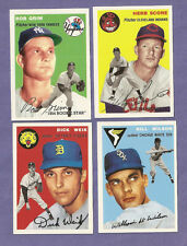 you pick any, lot of 8 cards from the 1954 Topps baseball Archives 1994 set