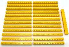 Lego 25 New Yellow Bricks 1 x 12 Stud Building Blocks Pieces