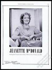 1940 Jeanette MacDonald photo opera singing recital tour booking trade ad