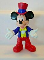 "Vtg MICKEY MOUSE 4"" H  Movable Plastic Figurine Doll WALT DISNEY Epcot Center"