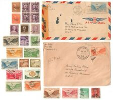 1940s CZ CANAL ZONE Used Stamps & Covers