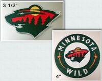 Minnesota Wild Logo Iron On Patch Choice of Style Free Shipping in Envelope Mail