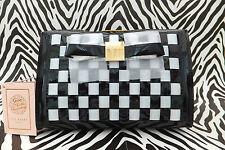 TED BAKER Ladies Wash Bag GG57 Large HALLOR Make-Up Black Woven Vinyl Bag BNWT