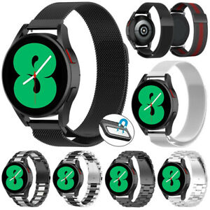 For Samsung Galaxy Watch 4 44mm Classic 46mm Strap Milanese Stainless Steel Band