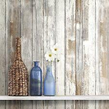 Rustic Wood Plank Wallpaper Wall Decor Sticker Home Style Peel & Stick Diy