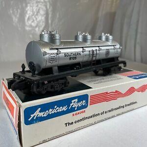 S Gauge American Flyer Lionel 4-9105 Southern Railway Triple Dome Tank Car #9105