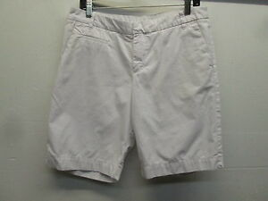 EUC! White Patagonia organic cotton flat front shorts Women's size 10 (34/10)