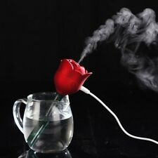 Rose Flower USB Humidifier Air Purifier Aroma Diffuser Atomizer Home Red DC 5V