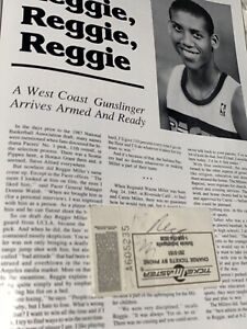 Reggie Miller HOF Rookie Vintage Signed Autographed TICKET STUB Plus Program And