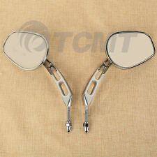 Rear View Mirrors For Harley Touring Road King Sportster XL Softail Fatboy Dyna