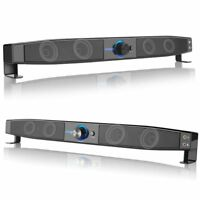 US Wired Subwoofer Soundbar Speakers Stereo Super Bass Loudspeaker for Phone PC