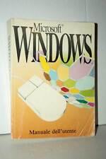 MANUALE UTENTE MICROSOFT WINDOWS 3.1 USATO BUONO STATO VER ITALIANA RS2 39528