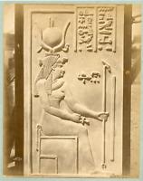 Bonfils. Egypte, Bas relief, Déesse Isis  Vintage albumen print. Félix Bonfils,