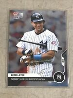 2020 TOPPS NOW DJ-2 DEREK JETER CAREER RETROSPECTIVE HOF