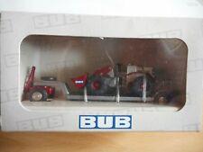 "BUB Trailer + Front loader ""Spielwaren Messe 2006"" in Grey/Red on 1:87 in Box"