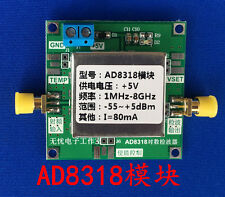 Ad8318 1-8000Mhz Rf Power Meter Logarithmic Detector Controller for Amplifier