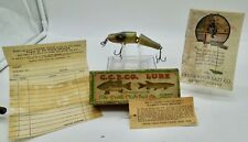 VINTAGE RARE CREEK CHUB BABY JOINTED PIKIE #2718 FISHING LURE SILVER FLASH BOX