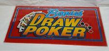 "VINTAGE Bally 1993 Slot Machine Glass "" BONUS DRAW POKER"""
