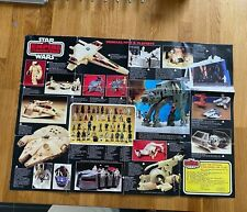 STAR WARS VINTAGE PALITOY THE EMPIRE STRIKES BACK TOY COLLECTION LINE UP POSTER