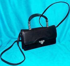 Brighton Black Croc Print Leather Crossbody Clutch Wallet Mini Organizer Handbag