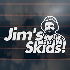 JIMS SKIDS Sticker 185mm funny jdm drift hoon racing car window decal