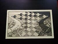 Rare M.C. Escher Jour et nuit lithographie années 1950-1960 Ed. Hautecoeur Paris