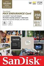 SanDisk® 256GB microSDXC™ MAX ENDURANCE Card with Adapter C10 U3 V30 dash cam