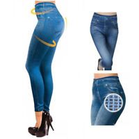 Womens High Waisted Jeans Skinny Stretchy Ladies Skinny Jeggings Slim Trousers