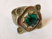Ancient Ring Bronze Vintage-Antique Roman Old Handmade Stunning Stone Rare Type