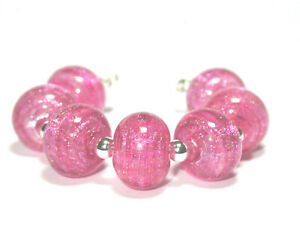 VictoriaGail Lampworked Beads- Raspberry Sorbet Sm