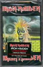 IRON MAIDEN - S/T cassette (Castle Records) 3 BONUS SONGS!  NEW/SEALED!!!