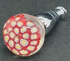 Vintage Glass Millefiori Boxed Bottle Stopper