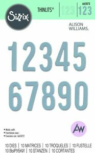 NEW Sizzix Bold Numbers Thinlits Die Set   665073