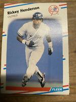 (35) 1988 Fleer Rickey Henderson New York Yankees #209 NM-MT+ Lot