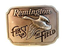 1980 Remington First In The Field Belt Buckle Made in U.S.A.