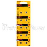 10 x Kodak LR626 batteries 1.5V Max Super Alkaline AG4 377 177 LR66 cells