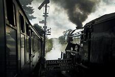 """Padres día en Blanco Tarjeta - """"Flying Scotsman"""" los trenes de vapor motores & Free 1st Post"""
