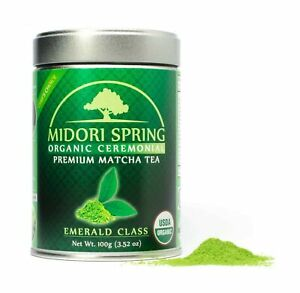 Midori Spring USDA Organic Ceremonial Matcha - Emerald Class - Chef's Choice ...