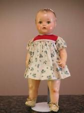 16� Abc Toy Co. - Composition / Cloth Mama Doll -Tin Eyes.