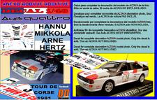 ANEXO DECAL 1/43 AUDI QUATTRO HANNU MIKKOLA TOUR DE CORSE 1981 DnF (01)