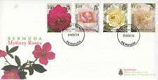 Bermuda 2013 FDC Mystery Roses 4v Set Cover Flowers Pacific Maitland White Soncy