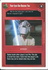 Star Wars CCG Premiere White Border Your Eyes Can Deceive You