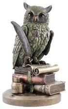 Veronese Bronze Figurine Animal Wise Professor Owl Statue Gift Home Decor