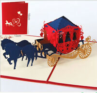 3D Pop Up Cards Lover Valentine Happy Birthday Anniversary Greeting Cards Gifts