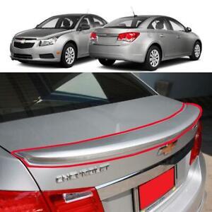1 Piece Silver Rear Truck Spoiler Wing Fit 2011-2014 Chevrolet Cruze Sedan