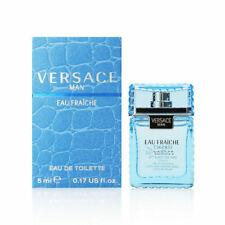 Versace Man Eau Fraiche Cologne by Versace 0.17 oz Mini  for Men 5ml NEW IN BOX