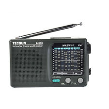 TECSUN R-909 Portable Radio FM AM SW 9 bands World Receiver Black Christmas Gift